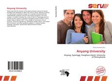 Bookcover of Anyang University