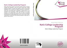 Nativ College Leadership Program的封面