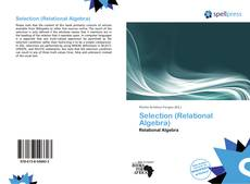 Bookcover of Selection (Relational Algebra)