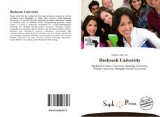 Capa do livro de Baekseok University
