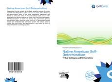 Couverture de Native American Self-Determination