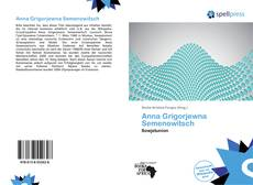 Bookcover of Anna Grigorjewna Semenowitsch