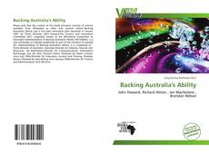 Bookcover of Backing Australia's Ability