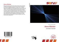 Capa do livro de Anna Klöcker