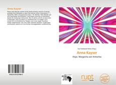 Bookcover of Anna Kayser