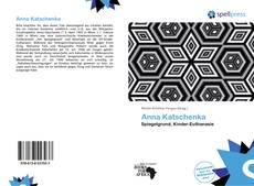 Anna Katschenka kitap kapağı