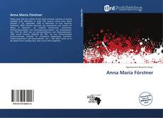 Buchcover von Anna Maria Förstner