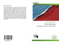Portada del libro de Anna Sprung