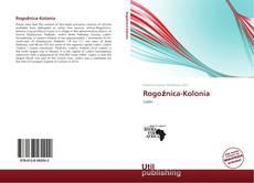 Rogoźnica-Kolonia kitap kapağı