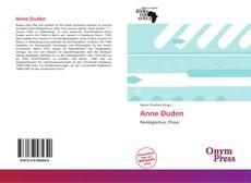Borítókép a  Anne Duden - hoz