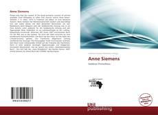 Portada del libro de Anne Siemens