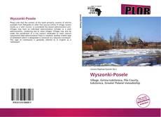 Capa do livro de Wyszonki-Posele