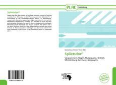 Portada del libro de Splietsdorf