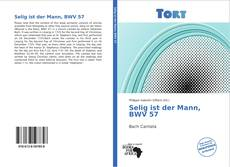 Selig ist der Mann, BWV 57的封面