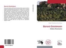 Couverture de Berent Geistmann