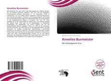 Portada del libro de Annelies Burmeister
