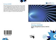 Обложка Pentax K200D