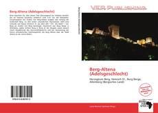 Buchcover von Berg-Altena (Adelsgeschlecht)
