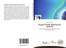 Bookcover of People'S Daily Editorial Of April 26