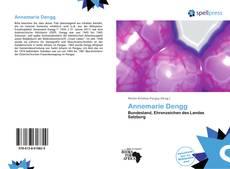 Buchcover von Annemarie Dengg