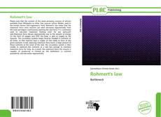 Bookcover of Rohmert's law