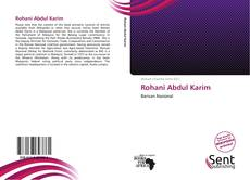 Bookcover of Rohani Abdul Karim