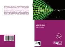 Anni sacri kitap kapağı