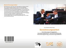 Bookcover of Bereicherungsverbot