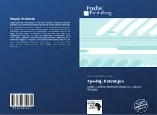 Buchcover von Spodnji Petelinjek