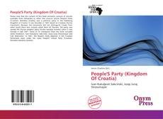 Portada del libro de People'S Party (Kingdom Of Croatia)