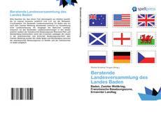 Buchcover von Beratende Landesversammlung des Landes Baden