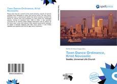 Bookcover of Teen Dance Ordinance, Krist Novoselic