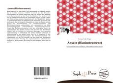 Bookcover of Ansatz (Blasinstrument)