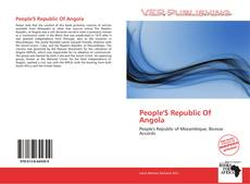 Bookcover of People'S Republic Of Angola