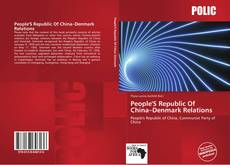 Buchcover von People'S Republic Of China–Denmark Relations