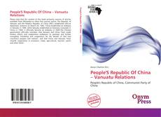 Buchcover von People'S Republic Of China – Vanuatu Relations