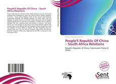 Portada del libro de People'S Republic Of China – South Africa Relations