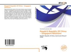 Buchcover von People'S Republic Of China – Singapore Relations