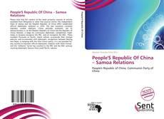 Borítókép a  People'S Republic Of China – Samoa Relations - hoz