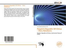 Copertina di People'S Republic Of China – Peru Relations