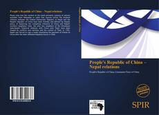 Buchcover von People's Republic of China – Nepal relations