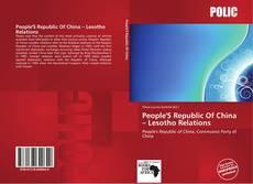 Copertina di People'S Republic Of China – Lesotho Relations