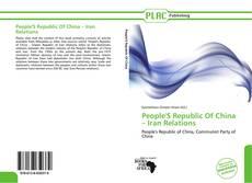 Copertina di People'S Republic Of China – Iran Relations