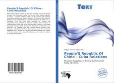 Portada del libro de People'S Republic Of China – Cuba Relations