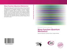 Bookcover of Wave Function (Quantum Mechanics)