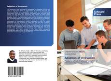 Buchcover von Adoption of Innovation