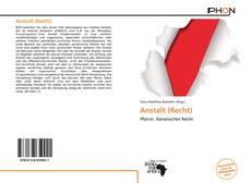 Bookcover of Anstalt (Recht)