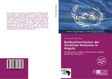 Capa do livro de Beobachtermission der Vereinten Nationen in Angola