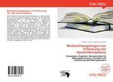Обложка Beobachtungsbogen zur Erfassung der Sprachkompetenz