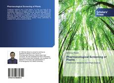 Couverture de Pharmacological Screening of Plants